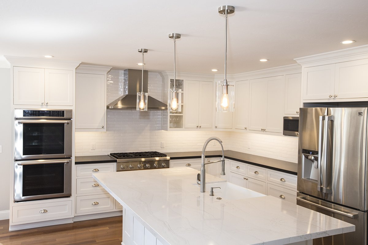 Remmington - White stone countertop for kitchen island