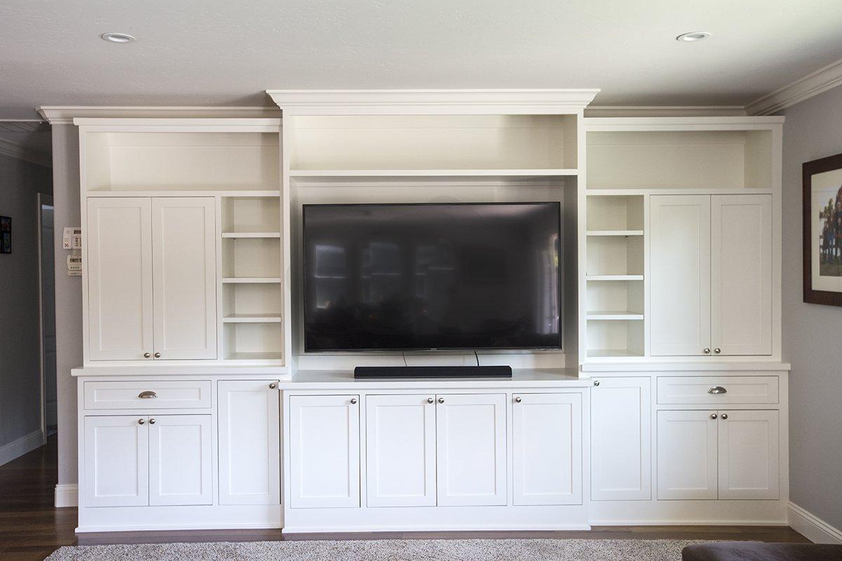 Remmington - custom cabinets and built-ins for large flatscreen TV