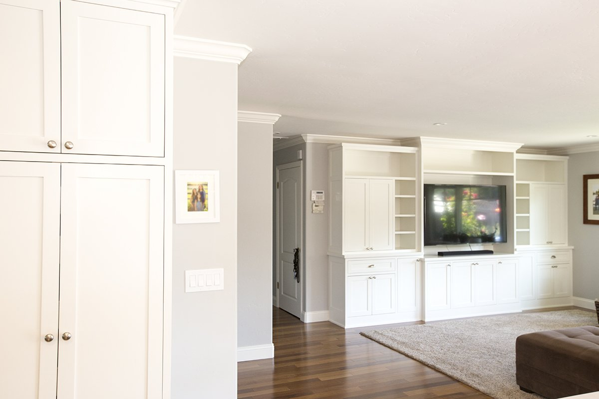 Remmington - Soft grey and white walss and cupboards and trim