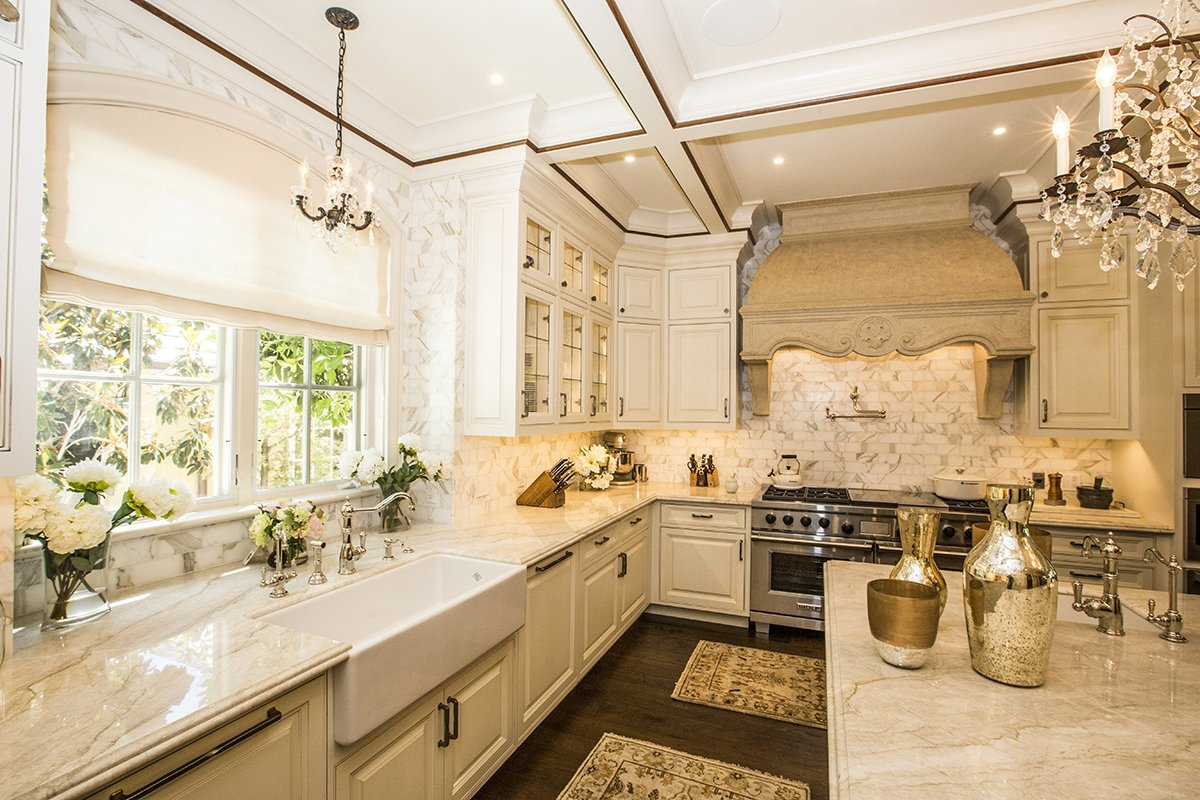 Atherton - by Mission City - arched kitchen window
