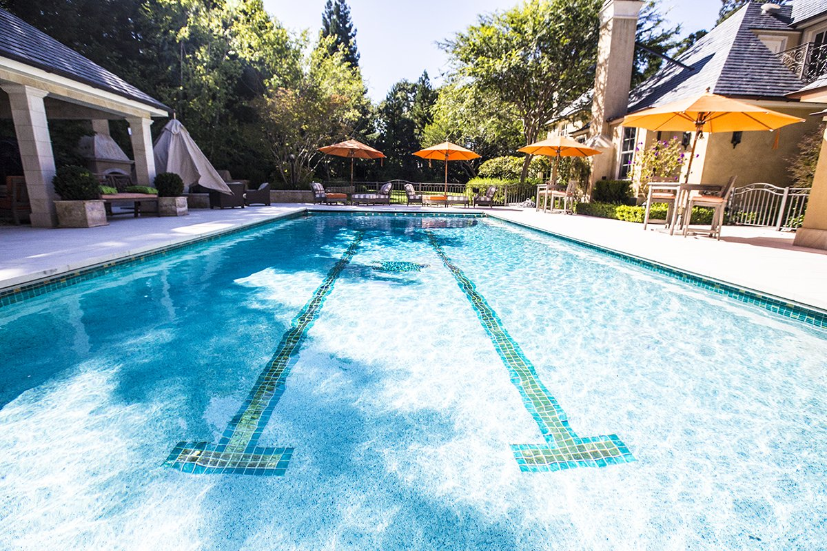 Atherton - by Mission City - Custom tile swimming pool