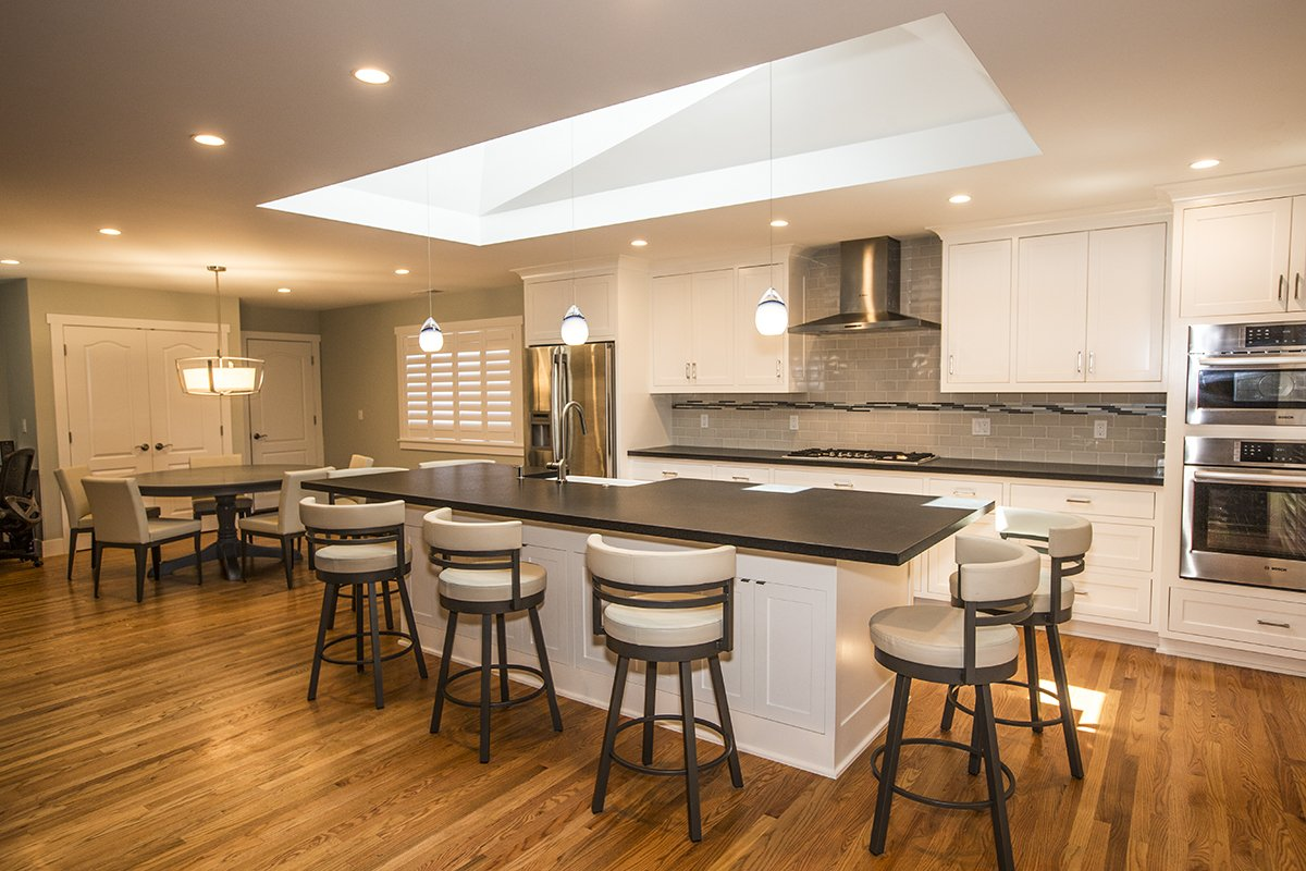 Portfolio - SanJose - Kitchen remodel transformed by skylight