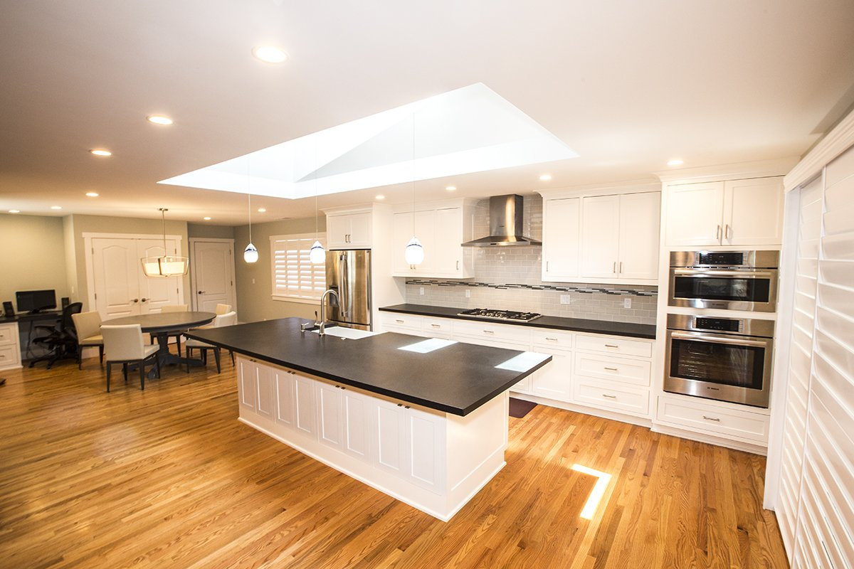 Portfolio - SanJose - Kitchen remodel with skylight and white cabinets